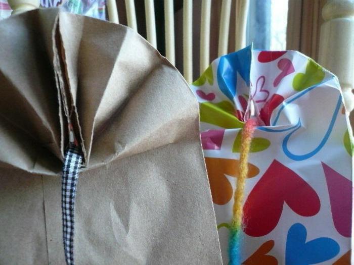 wie Sie die Schleifen binden, Geschenktüten Papier, herrlich gefaltet