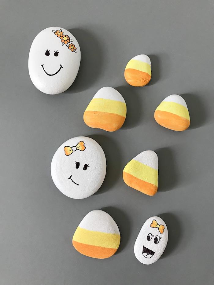 Steine bemalen, lustige DIY Idee für Kleinkinder, Gesichter zeichnen, Spaß für Kinder und Erwachsene