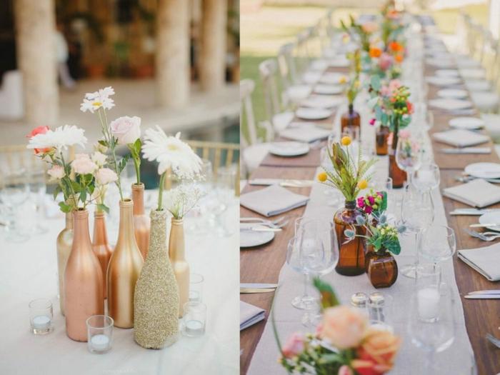 tischdeko geburtstag 50, ideen für elegante und feine dekorationen auf dem tisch, die blume eignet sich immer dazu