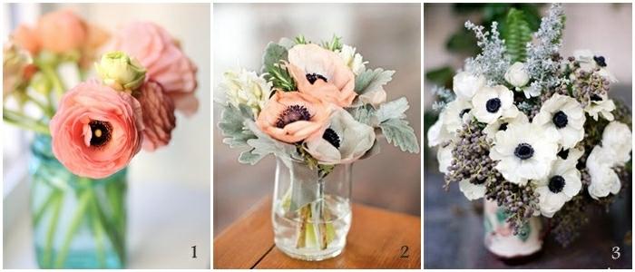blumengestecke selber machen, drei einfache und schöne ideen mit gartenblumen, weiß, rosa oder gemischt