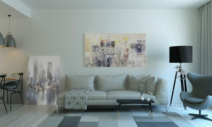 schönes Wohnzimmer mit einem Bild