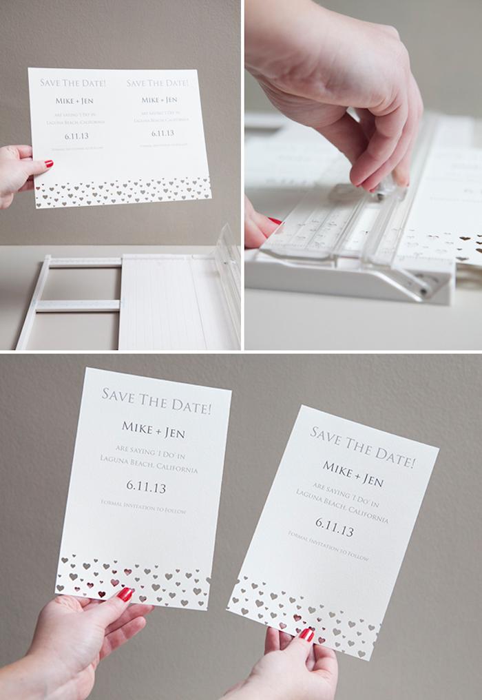 hochzeitskarten selber basteln, basteln mit papier, diy ideen für hochzeit, einladungen