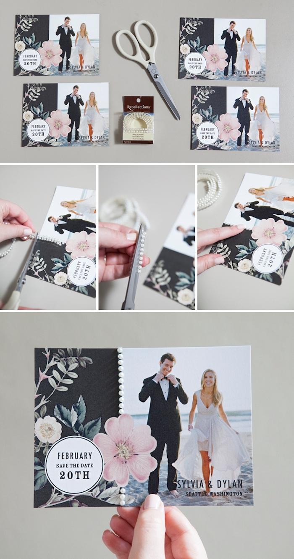 hochzeitskarten selbst basteln, braut und bräutigam, einladungskarten mit foto, hochzeit