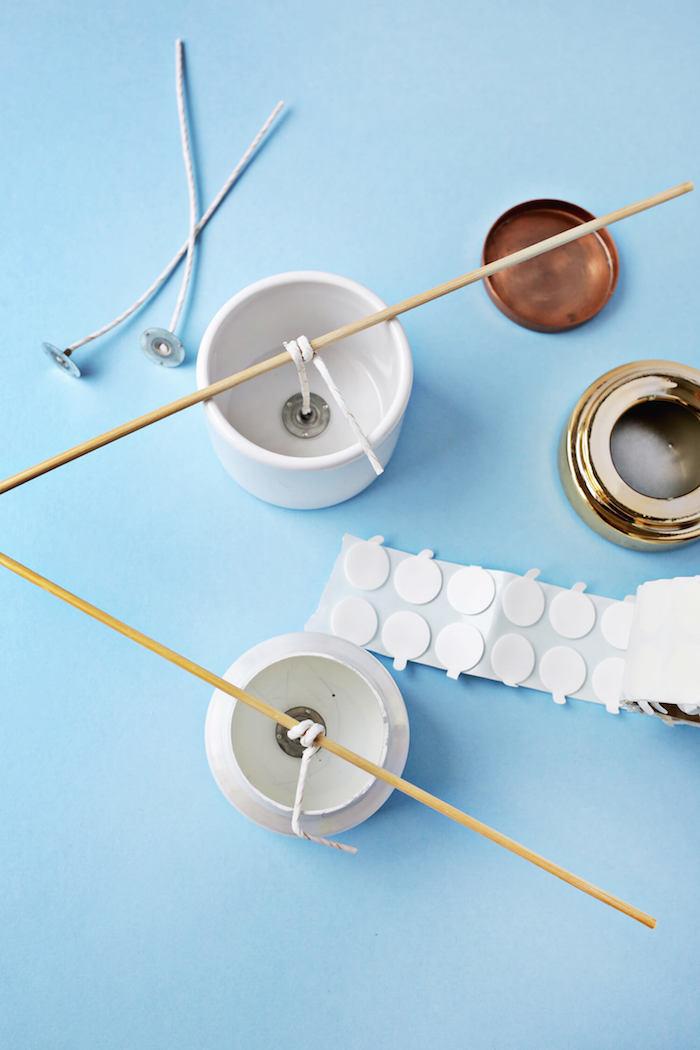 Kerzen selber gestalten, DIY mit ausführlicher Anleitung, Idee für Geschenk