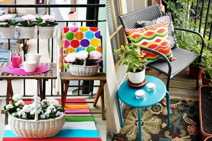 balkon verschönern bunte ideen zum gestalten, die farben bringen frische laune mit