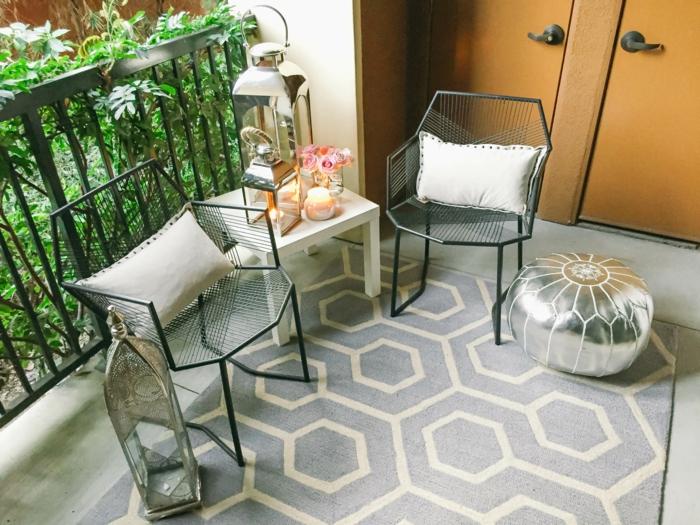 schmalen balkon gestalten, ideen zum nachmachen. orientalischer stil bei der einrichtung von balkon oder terrasse