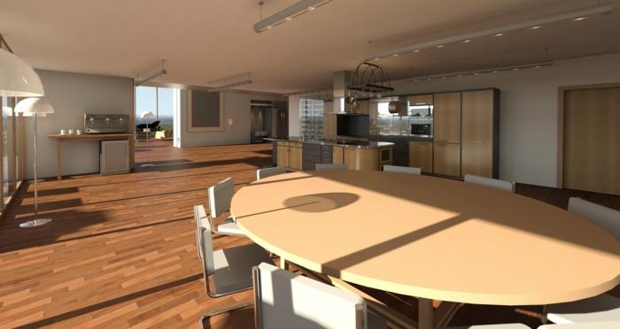 ein großer Raum mit vielen Funktionen, Was passt zu Grau, Holz