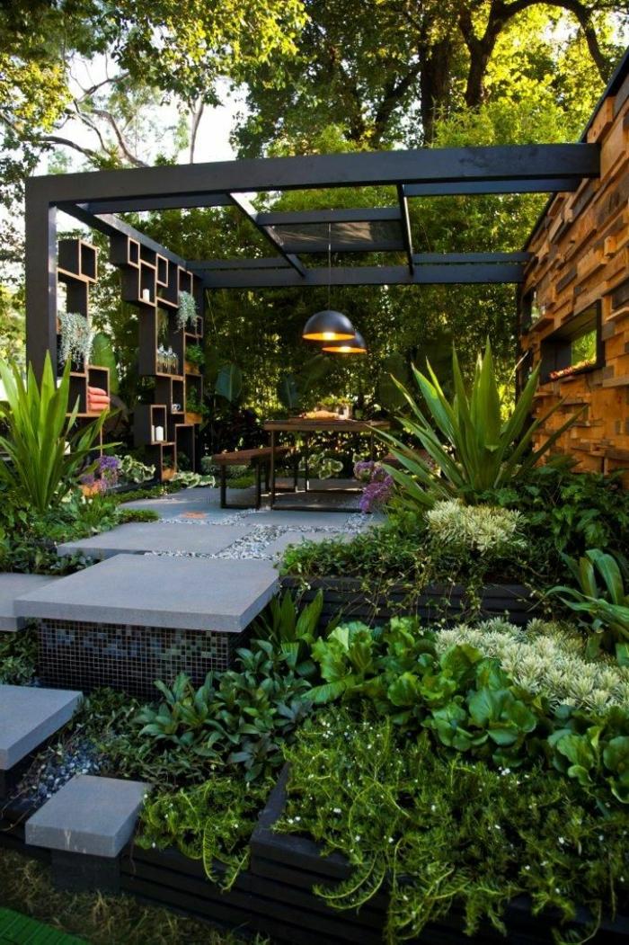 landschaftspark, luxusgarten design zum erstaunen, besondere konstruktion im garten, schöne beleuchtung, kreative garteieinrichtung