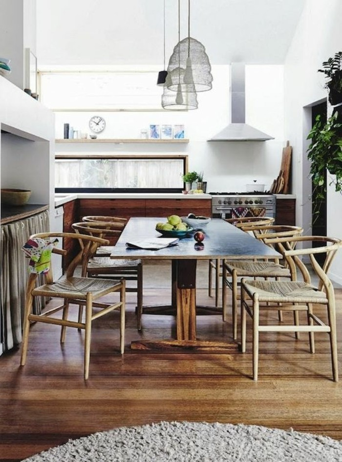 tisch für kleine küche, viele gäste empfangen, tisch für acht personen im kleinen essbereich, modernes robustes design