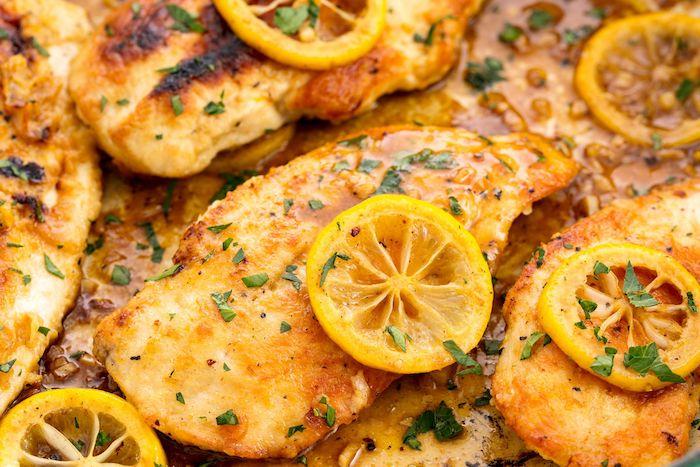 hühnerfleisch, hühnchenbrust mit zitronen, rezepte kalorienarm, proteinreiche gerichte