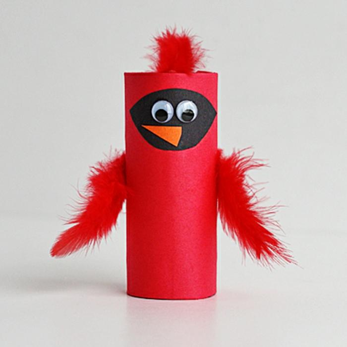 ein Küken aus dem Film Angry Birds selber herstellen, was kann man aus klopapierrollen machen