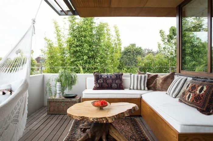 balkon lounge idee, die mehr stile kombiniert, orientalisch, skandinavisch, ethno, authentischer balkon