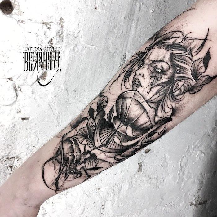 Großes Tattoo am Unterarm, Ideen für Männer Tattoos, Arm Tätowierung