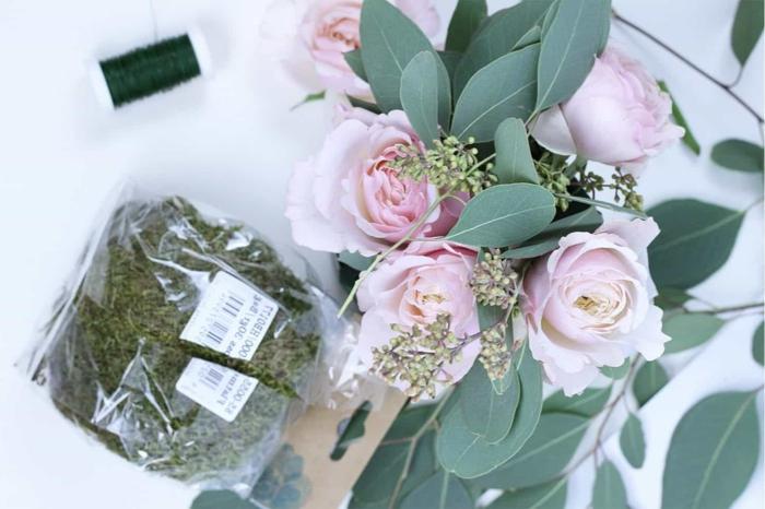 alles was sie brauchen für tischdekoration geburtstag, rosen, moos, dekoblätter, gute laune, kreatives denken