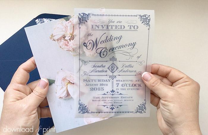 vintage karten, dunkelbrauer briefumschlag, durchsichtiges papier, wachspapier, rosen