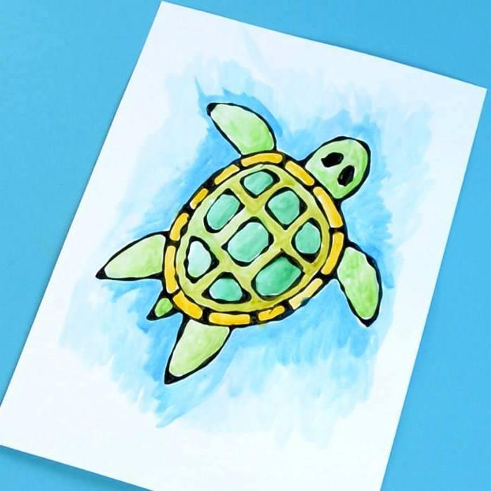 Schildkröte zeichnen, kreative DIY Ideen für Kinder und Eltern