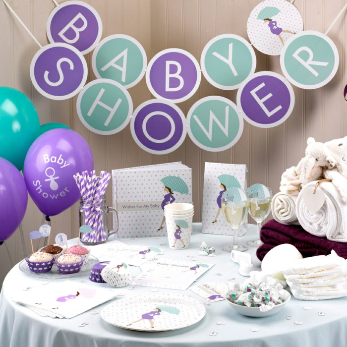 1001 ideen f r babyparty deko zum entlehnen - Baby shower party ideen ...