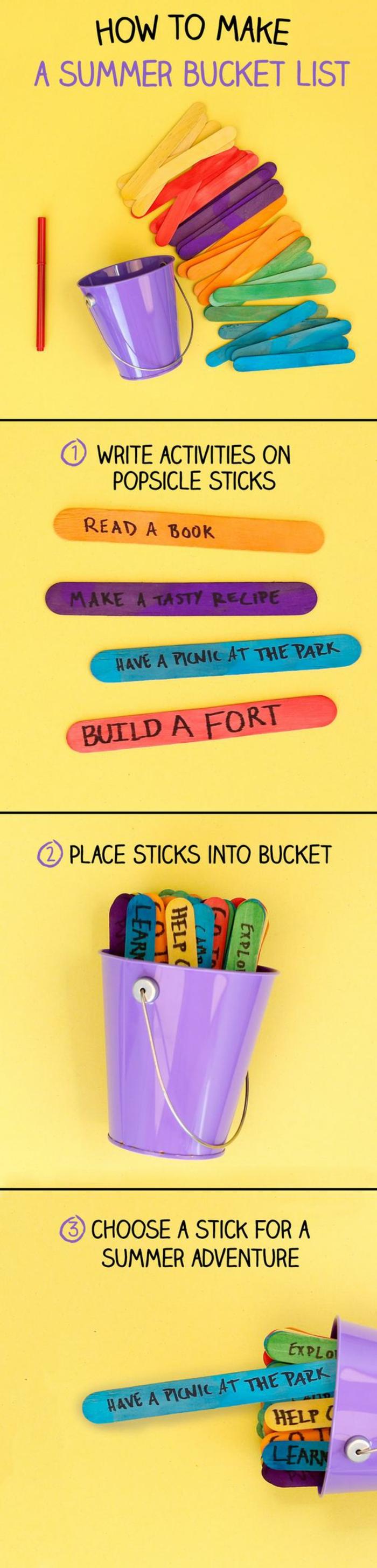 coole bastelideen mit holz, eisstäbchen, deko idee, kleine spiele selber ausdenken und kreieren