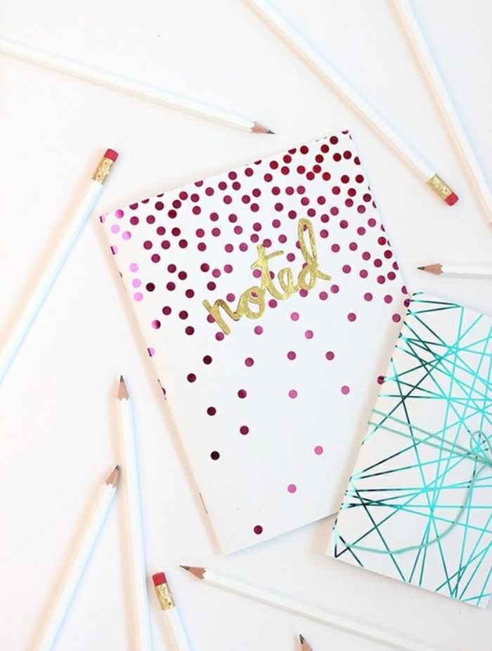 diy deko ideen für erwachsene und kleinen, heft oder tagebuch mit dekorationen verzieren