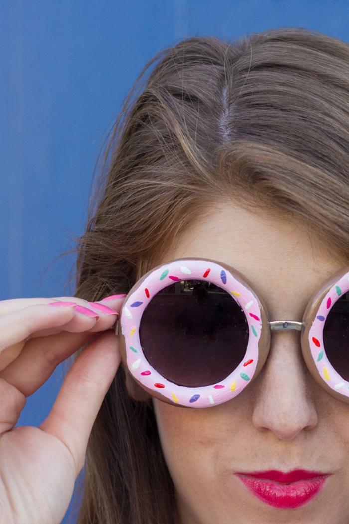 basteltipps zum entlehnen die eigene sonnenbrille als donuts gestalten, kreative und funky ideen