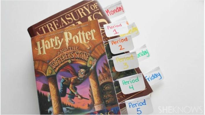 wie Sie mit den Lesezeichen das Buch ausstatten, bunte Lesezeichen selbst gestalten