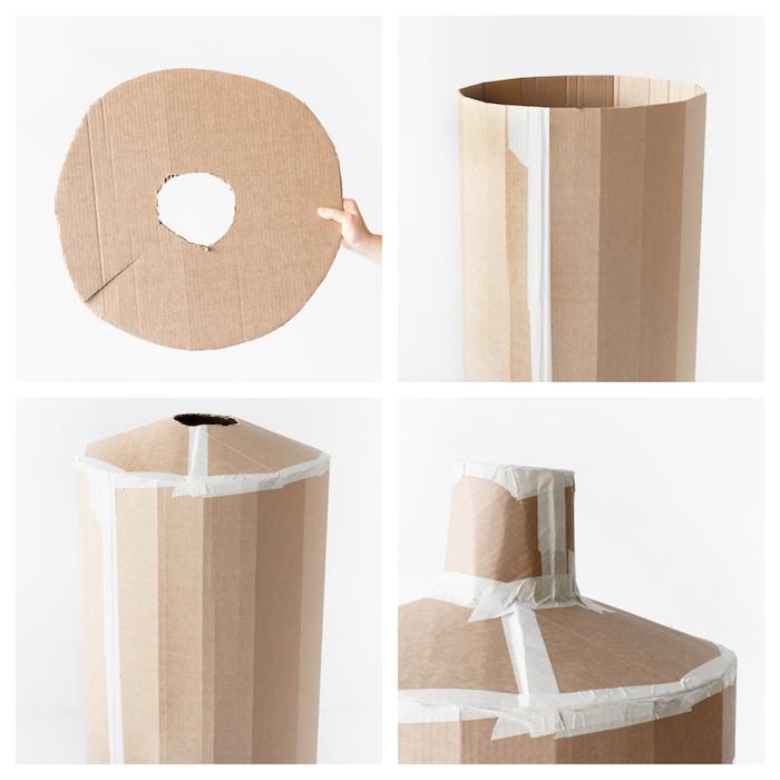 Haarspray Pinata aus Pappe selber machen, DIY Anleitung in vier Schritten