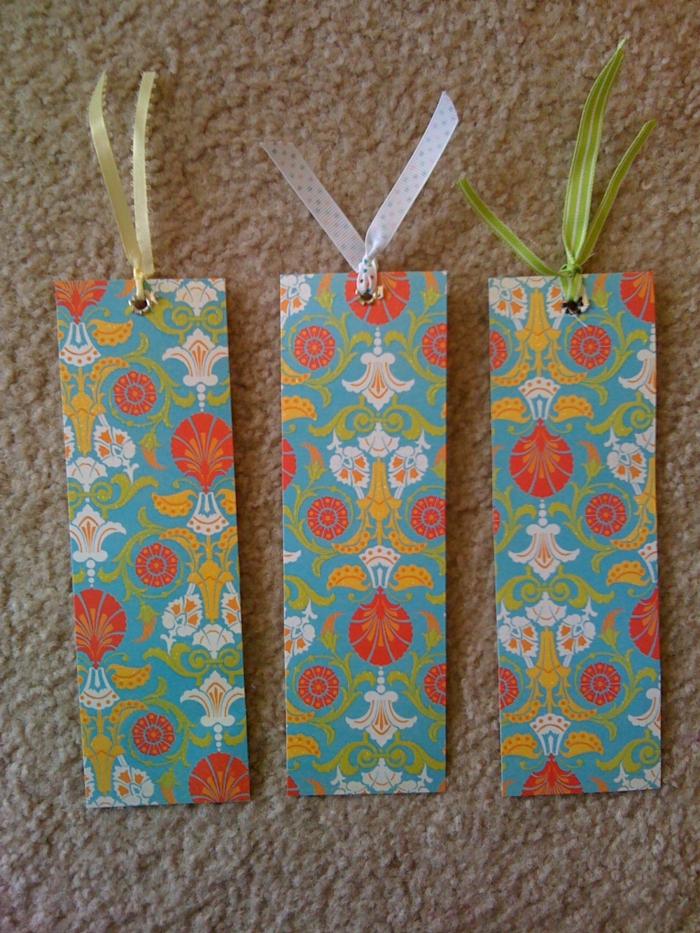 Lesezeichen zum Ausdrucken, bunte Lesezeichen mit abstrakten Blumen Motiven