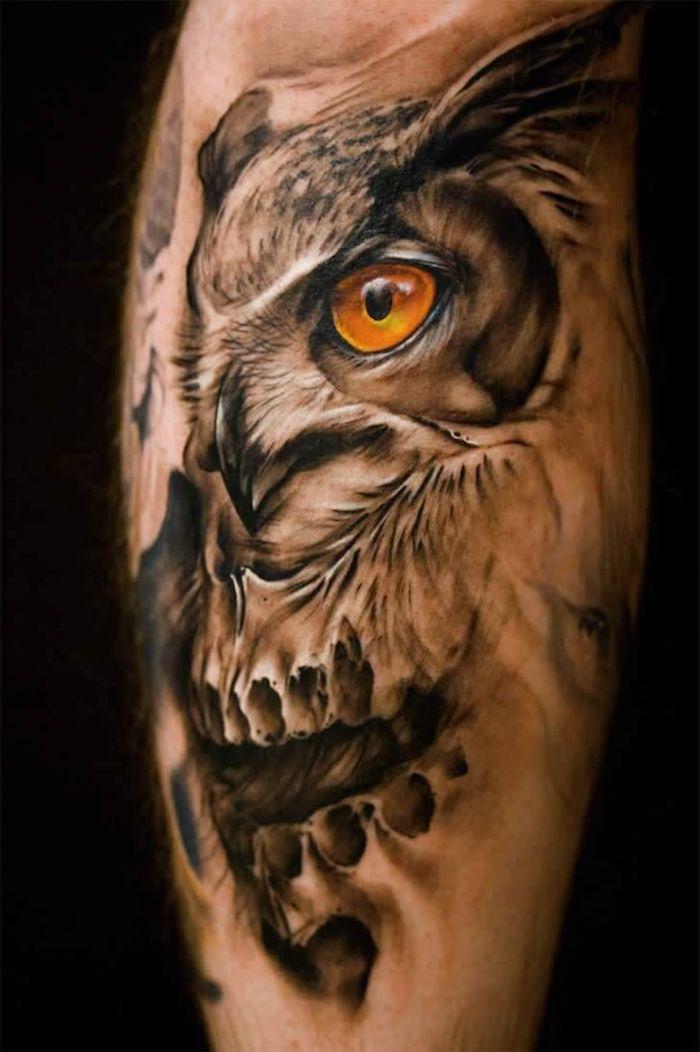 Totenkopf arm männer tattoos 42 Totenkopf