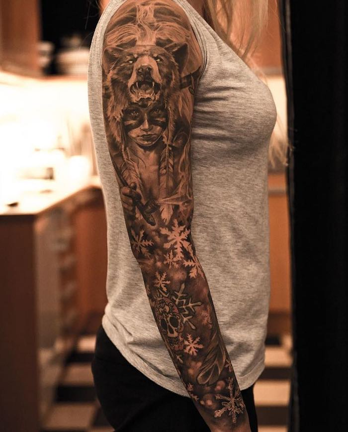 arm tattoo frauen