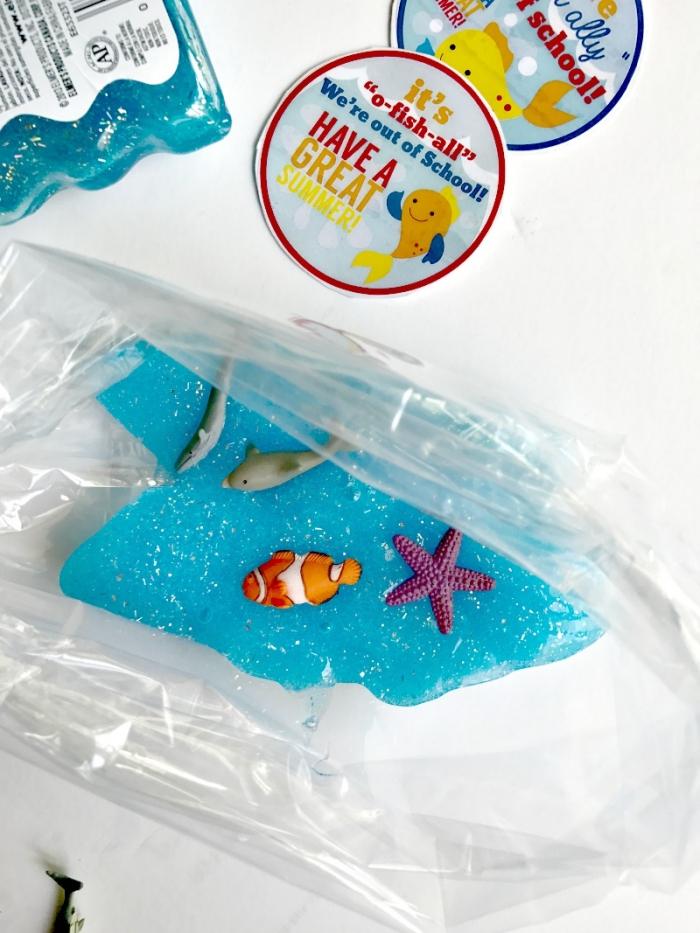 fluffy slime rezept ideen blaue dekorationen, fisch stern, delfin, ideen und glückwunsch