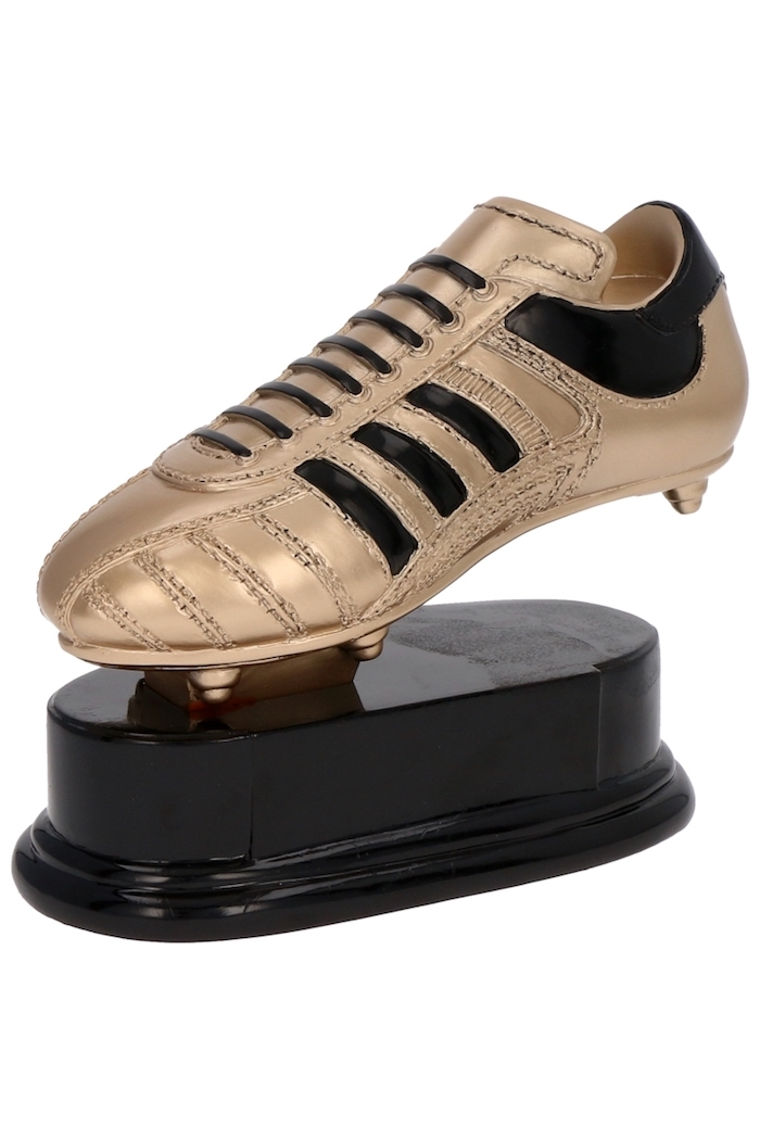 Geschenkideen für Fußballfans, Trophäe Goldener Schuh mit Gravur