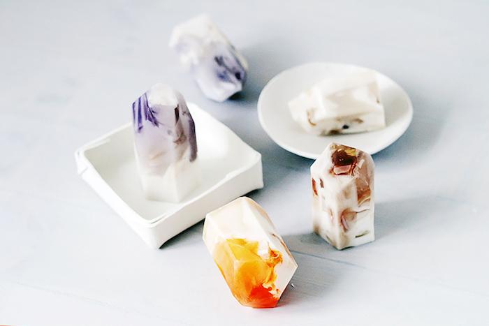 geburststagsgeschenk ideen, selbstgemachte seiden in form von kristallen, natürlichen zutaten