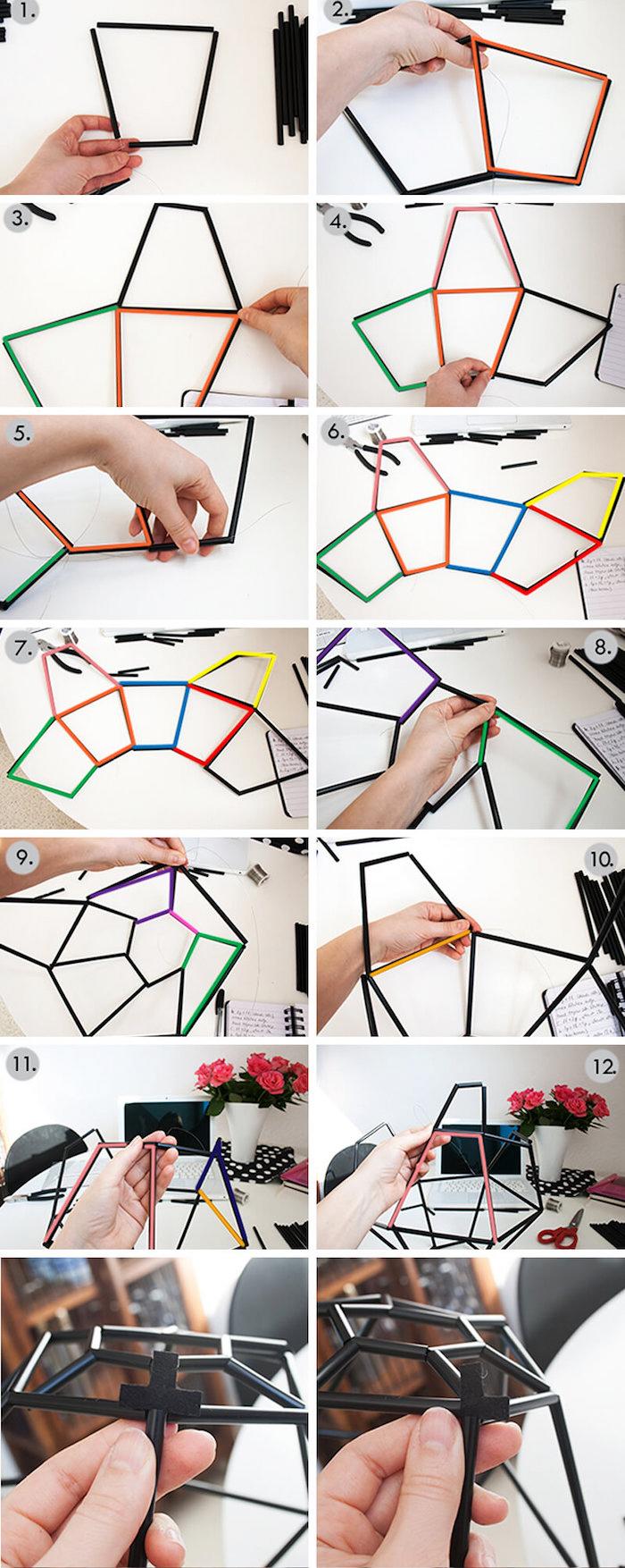 Ansprechend Collage Basteln Beste Wahl Geometrischer Lampenschirm Basteln, Collage, Viele Bilder, Kreative