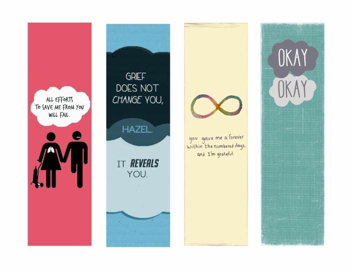 Lesezeichen drucken mit Zitaten aus einem bekannten Jugendbuch