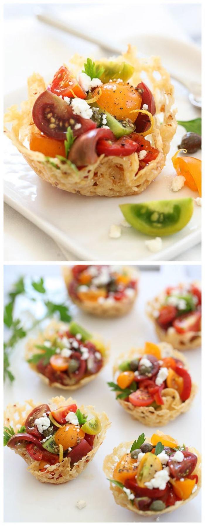 eier und gemüse backen und in einer form gestalten, vegetarische vorspeisen rezepte und anleitungen zum ausprobieren