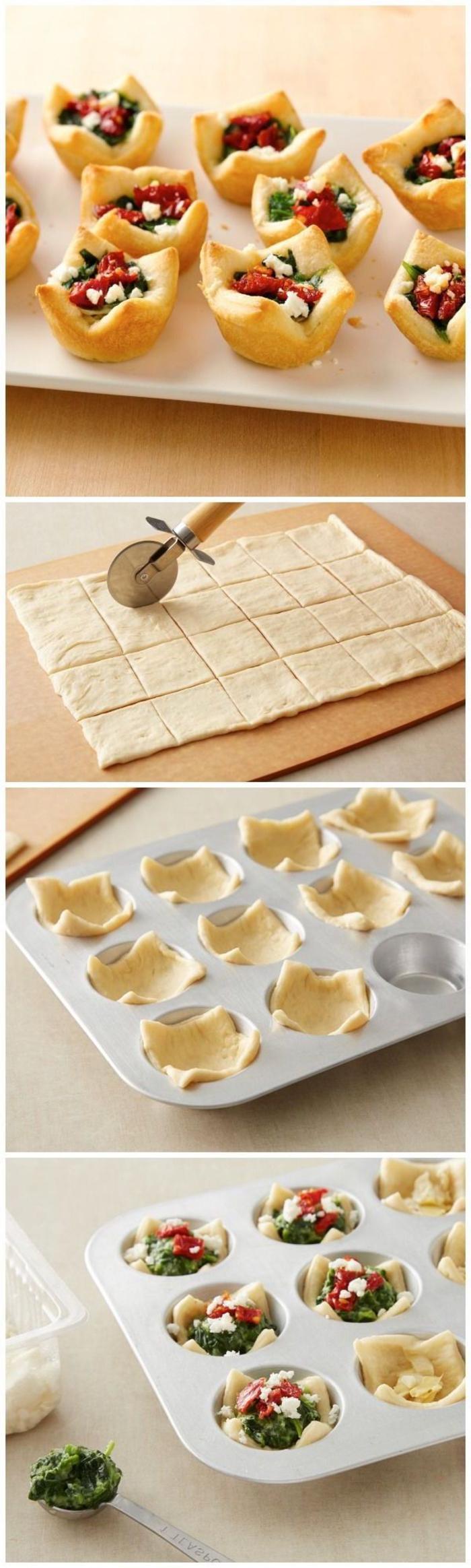 einfache italienische vorspeisen, leckere ideen, teigwaren im backofen zubereiten mit gemüse