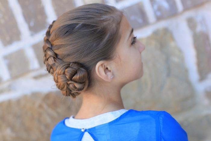 Schöne Flechtfrisur, Hochsteckfrisuren für besondere Anlässe, Mädchen mit langen braunen Haaren