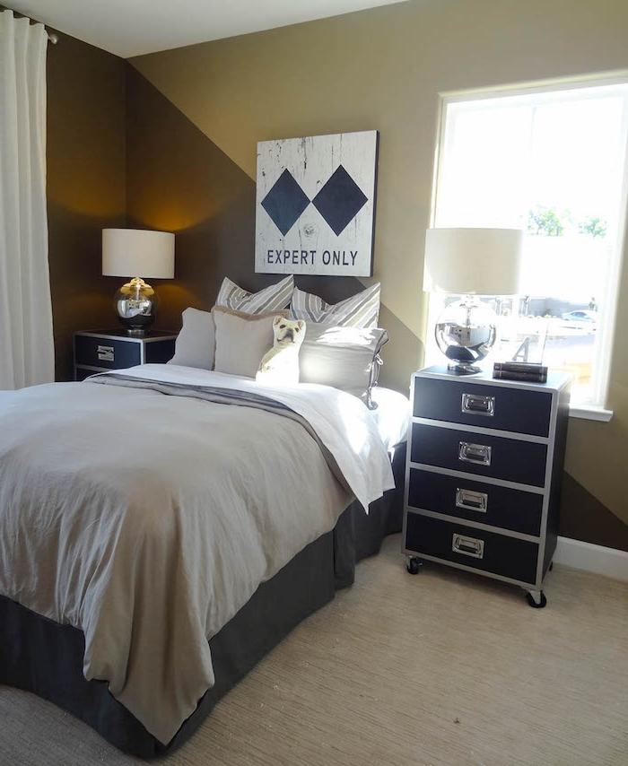 Braune Wandfarbe Schlafzimmer: 1001 + Ideen Und Bilder Zum Thema Wand Streichen Ideen