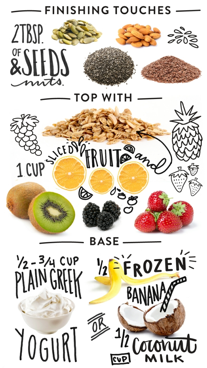 gesunde küche heißt nahrungsmittel von der natur, samen und nüsse, obst und gemüse