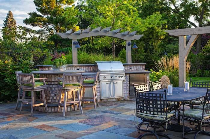 Außenküche Mit Backofen : Outdoorküche bau beispiele und fertige außenküchen youtube
