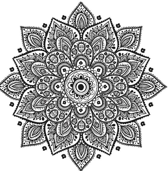 gratis vorlagen herunterladen, kleine blüten, mehndi, indische elemente