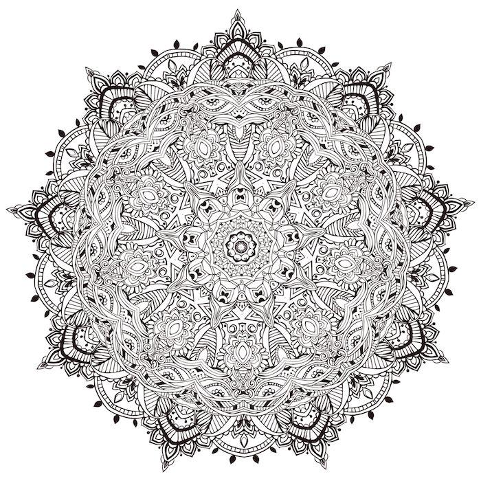 gratis vorlagen, mandala schablone für fortgeschrittene, weißer hintergrund