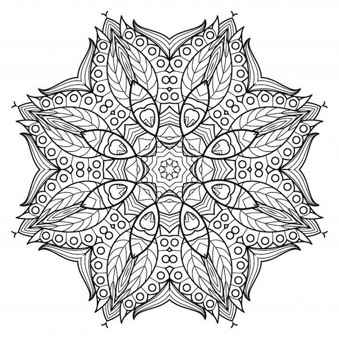 perfekte symmetrie, kreise und blumenranken, gratis malvorlagen, template