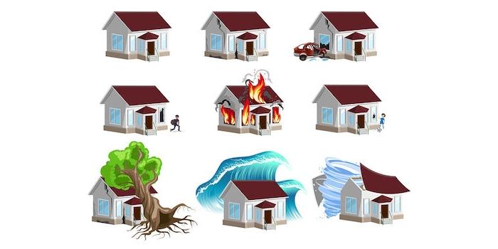 Eine Hausratversicherung springt dann ein, wenn das eigene Haushalts durch Blitzschlag, Einbruchdiebstahl, Feuer, Leitungswasser sowie Sturm und Hagel beschädigt wird