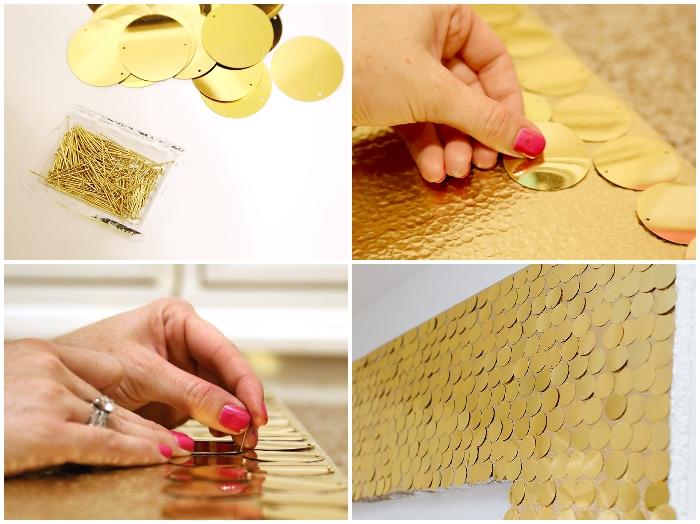 kratives gestalten die schönsten ideen zum selbermachen, große wanddeko, goldene kreise, anleitung