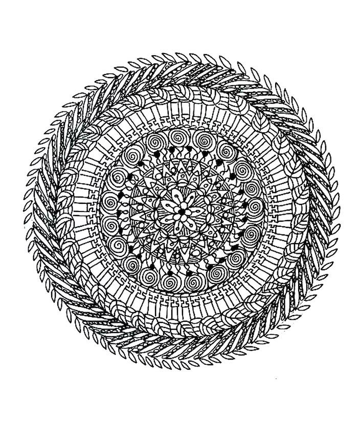 malvorlagen kostenlos ausdrucken, dettailierte schablone mit vielen elementen