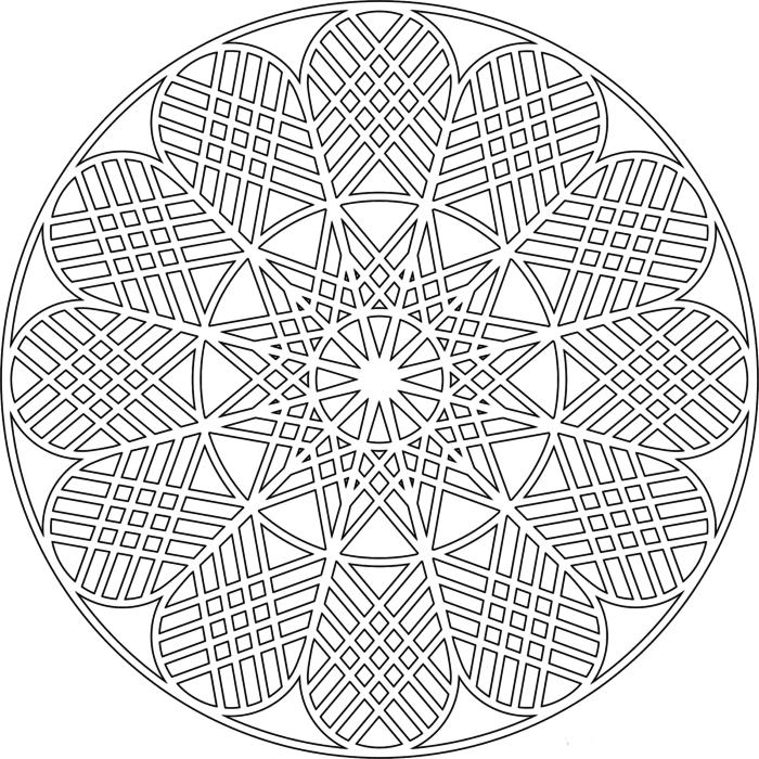 schablone zum anfänger, mandala ausdrucken, perfekte symmetrie, entspannen