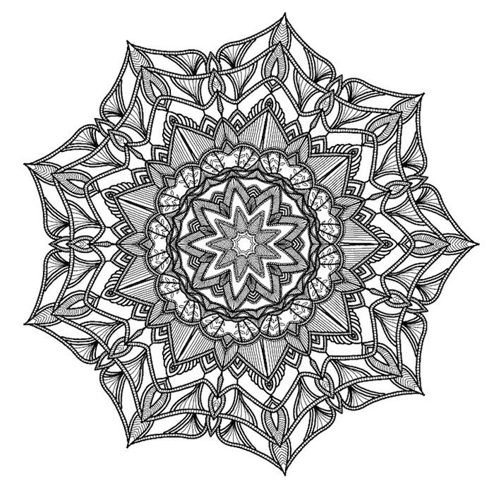 mandalas zum ausdrucken, konstenlose schablone herunterladen, viele details