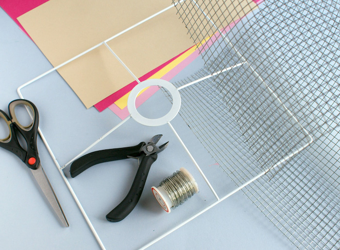 Nachttischlampe selber machen, Materialien dazu, DIY Projekt für Erwachsene