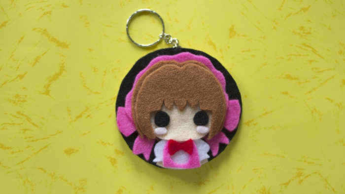 die Hauptheldin aus Cardcaptor Sakura, Sakura Schlüsselanhänger basteln